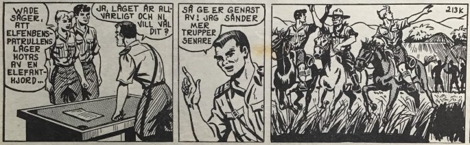 Slutet på episoden i Spud & Co nr 3, 1963
