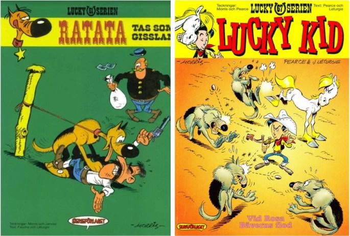 Lucky Luke från 1992 resp. 1995 utgivna av ©Serieförlaget