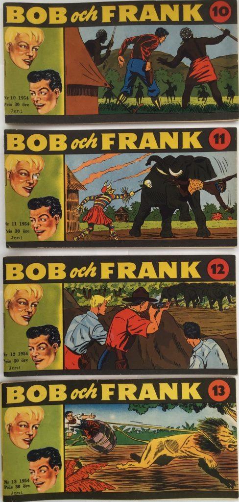 Omslag till Bob och Frank nr 10-13, 1954