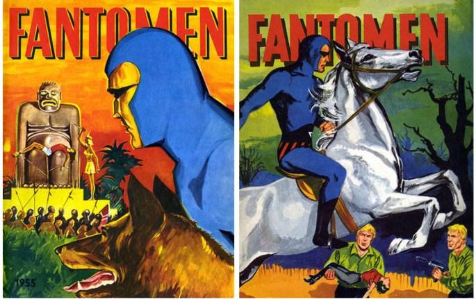 Omslag till Fantomen julalbum 1955 och 1956
