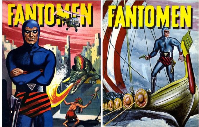Omslag till Fantomen julalbum 1961 och 1962