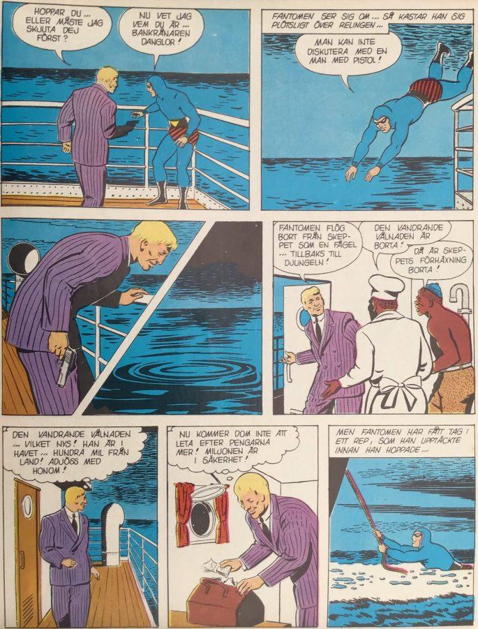 En sida ur Passageraren i hytt nr 7 från Stora jubileumsboken