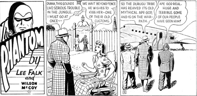 Inledande rutor till The Ape Idol of Durugu
