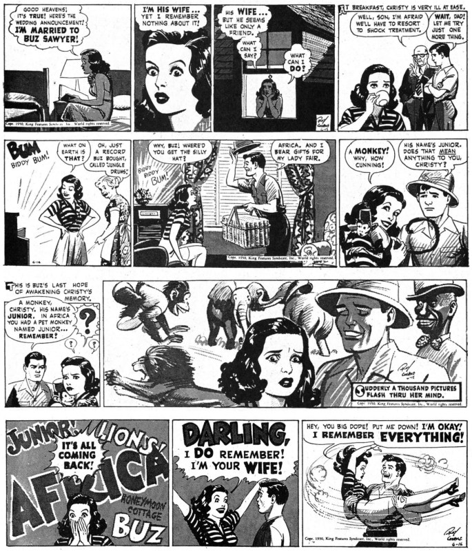 Originalstripparna från 13-16 juni 1950