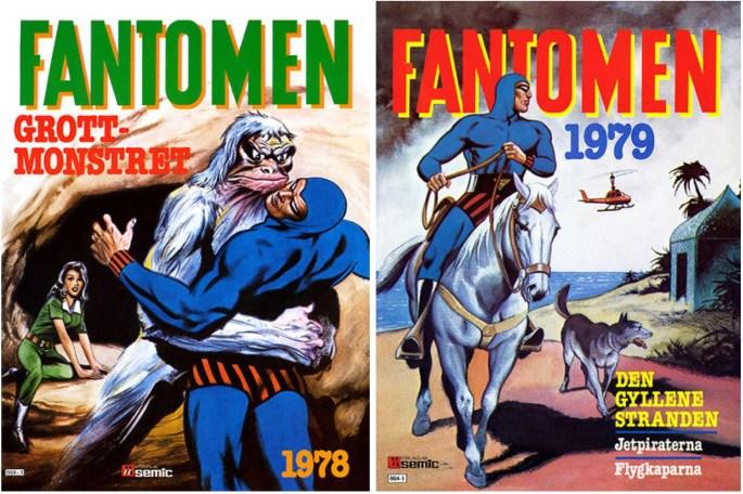 Omslag till Fantomen julalbum 1977 och 1978