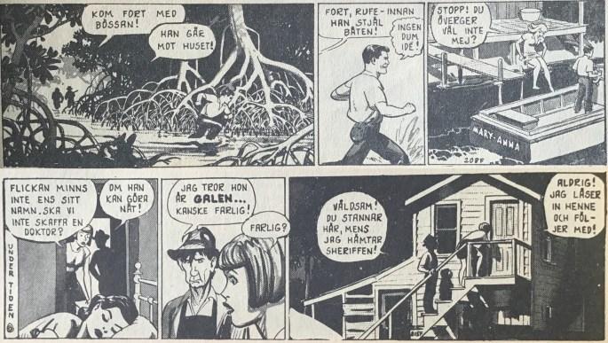 I episoden Mystiskt försvinnande är det ett glapp i publiceringen mellan stripparna 208F och 215F i Buzz Cooper (Formatic)