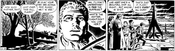 Originalstrippen från 10 februari 1955