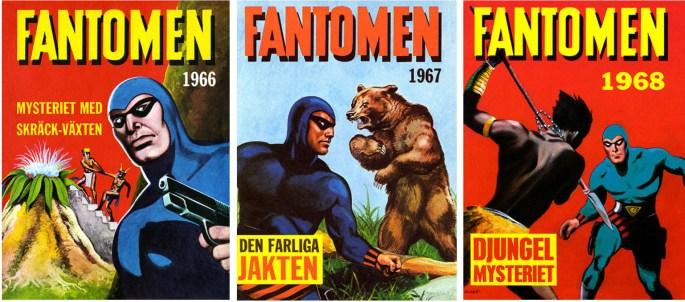 Omslag till Fantomen julalbum 1965, 1966, och 1967