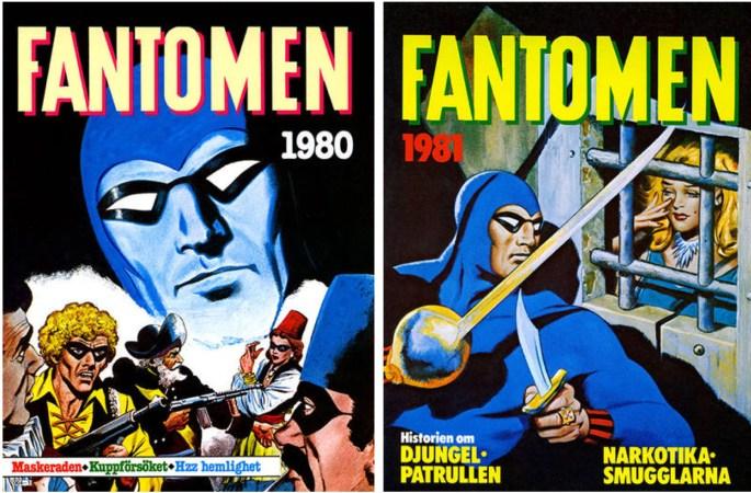 Omslag till Fantomen julalbum 1979 och 1980