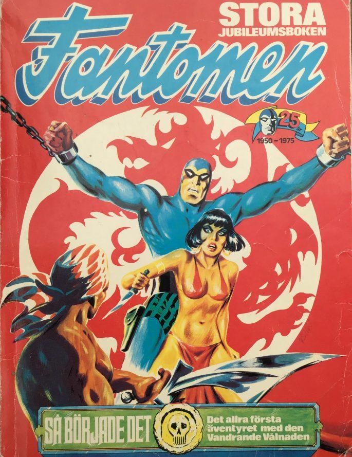 Omslag till Stora jubileumsboken Fantomen 1950-1975