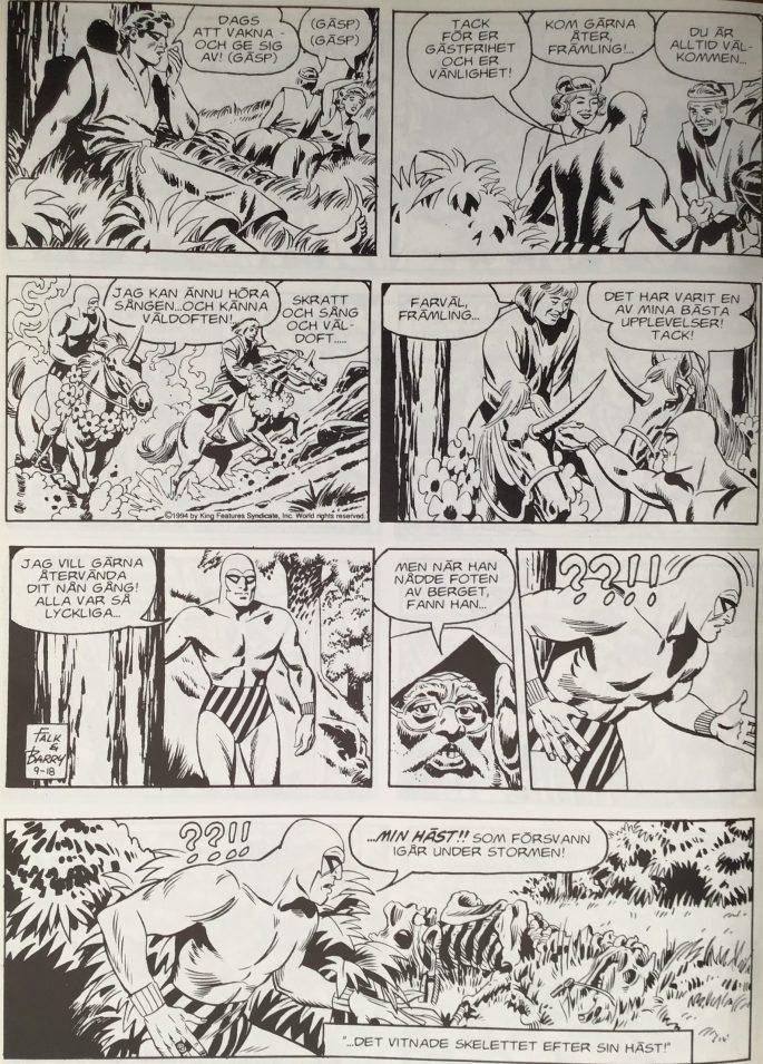 En sida ur Sagan om Sant-Gennis, i Fantomen 1936-1996