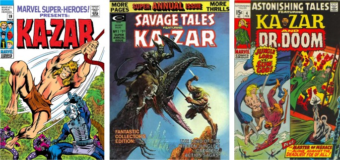 Marvel Super-Heroes #19 (1969), Savage Tales Annual #1 (1975) och Astonishing Tales #4