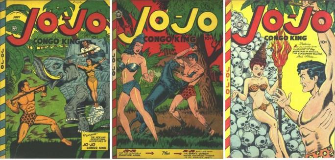 Jo-Jo #7a, #7b och #8, när tidningen fick en seriefigur som hette Jo-Jo, kallad Congo King.