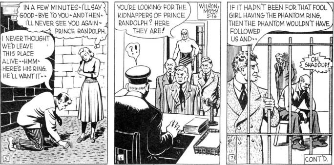 Motsvarande rutor ur söndagssidan från 13 maj 1951