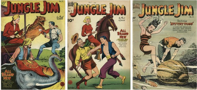 Jungle Jim #11, #12, och #13 från ©Standard Comics