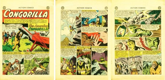Inledningen till Congorilla med Congo Bill, ur Action Comics #248.