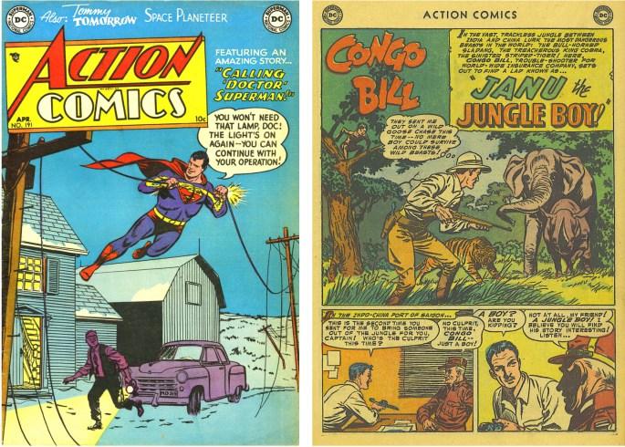 Action Comics #191, med serien Congo Bill där Janu hade premiär.
