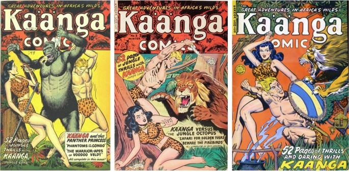Kaänga Comics #1-3 från våren och vintern 1949 resp våren 1950.