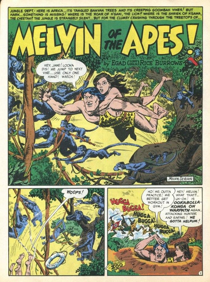 Tarzan var inte den enda djungelserien, utan Melvin of the Apes var det också, om än en parodi...