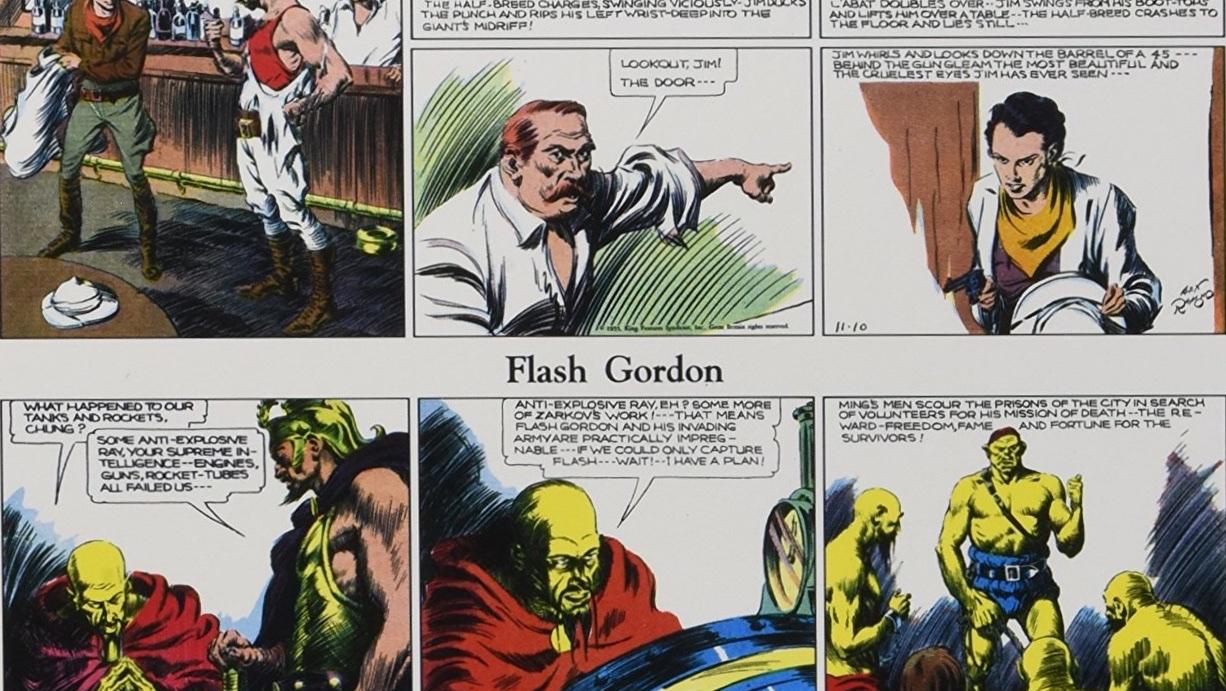Don Moore skrev manus till Blixt Gordon och Jungle Jim