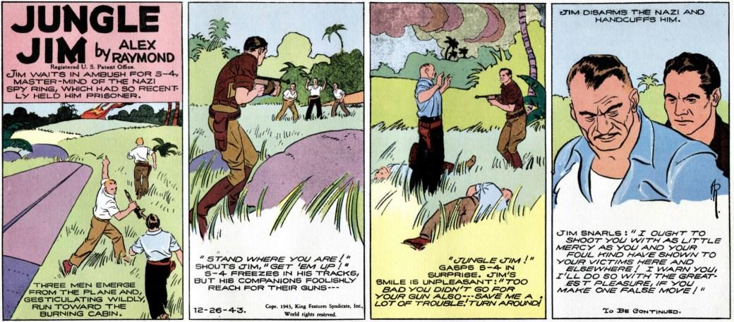 Några av de sista stripparna 1943 ser ut att vara färdigtecknade av en tecknarassistent