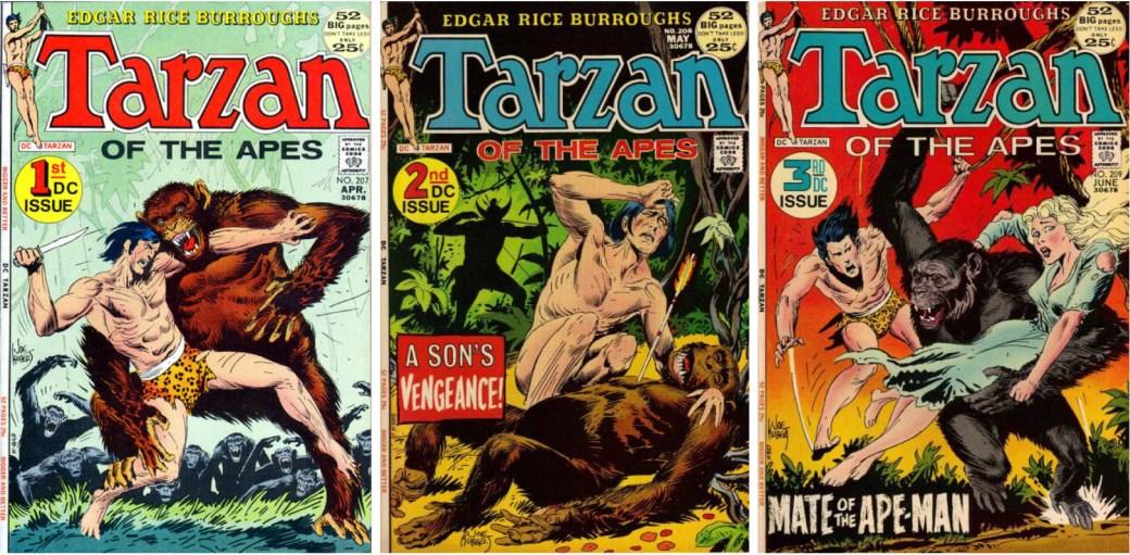 Tarzan #207-209 (1972) med serier av Joe Kubert.