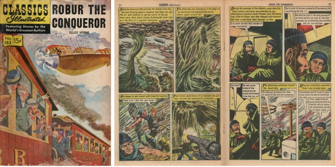 Motsvarande sidor ur Classics Illustrated #162. ©Gilberton
