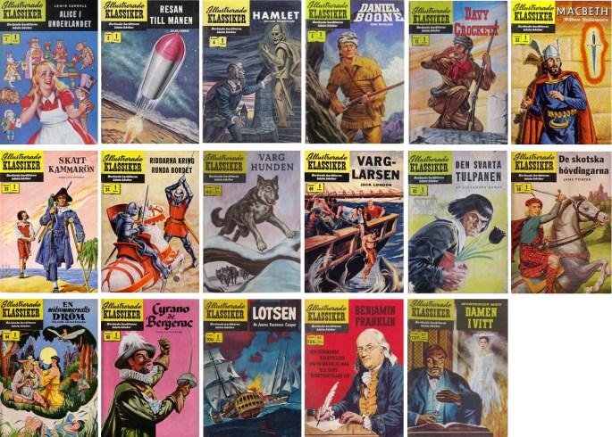 Många serier i Illustrerade Klassiker var tecknade av Alex Blum. Omslag var vanligen skapade av annan tecknare, men Blum gjorde omslag till nr 4, 49 och 64. ©IK/Gilberton