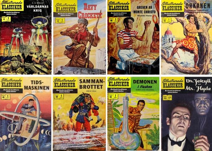 Åtta Illustrerade klassiker innehöll serier tecknade av Lou Cameron. Omslag till nr 6 är skapat av. Cameron. ©IK/Gilberton