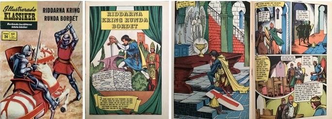 Omslag, inledande sida och mittuppslag till Illustrerade klassiker nr 24. Omslaget är dock inte av Blum.