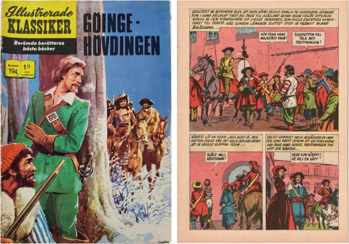 Illustrerade klassiker Nr 194 Göingehövdingen tecknades av Göransson, men omslaget skapades av Björn Vilson.©IK