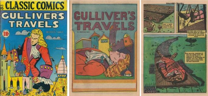 Chestney tecknade Gulliver's Travels till Classic Comics #16