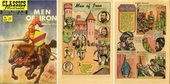 Omslag och inledande sidor till Classics Illustrated #88.