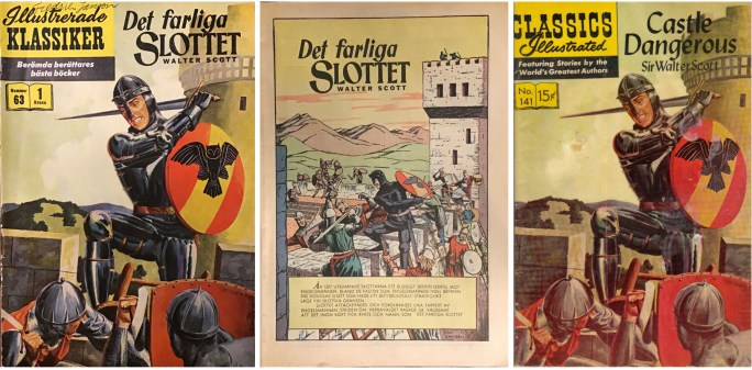 Omslag och första sida till IK nr 63, och omslag till CI #141 (t.h.). ©IK/Gilberton