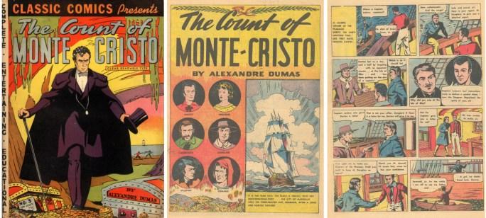Omslag och inledande sidor av Classic Comics #3 från 1942.