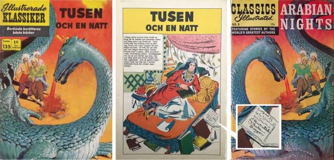 Illustrerade Klassiker nr 135 har en nytecknad serie av Charles Berger. Intressant är att omslaget är spegelvänt jämfört med originalet (t.h.) och att serien är signerad. ©IK/Gilberton
