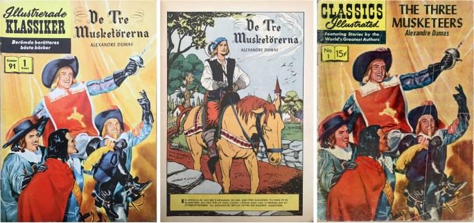 Omslag och första sida av IK nr 91, och omslag till CI #1 från 1956 (t.h.). ©IK/Gilberton