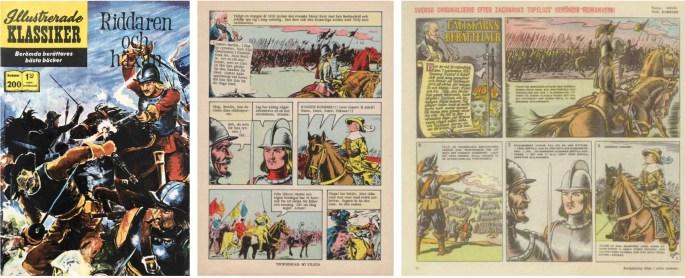 Illustrerade klassiker nr 200, och en sida av Fältskärns berättelser ur Levande livet från 1942.©IK