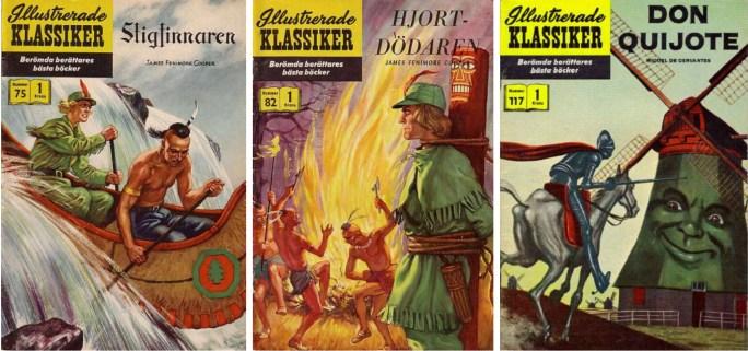 Illustrerade klassiker nr 75, 82 och 117. ©IK/Gilberton