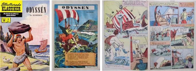 Omslag, inledande sida och ett uppslag i Illustrerade klassiker nr 25. ©IK/Gilberton
