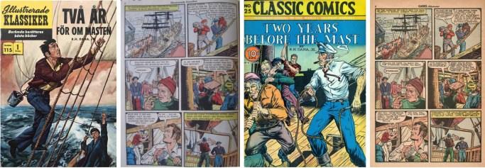 Illustrerade klassiker nr 115 och Classic Comics #25. ©IK/Gilberton