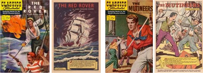 Classics Illustrated #114 och #122. ©IK/Gilberton