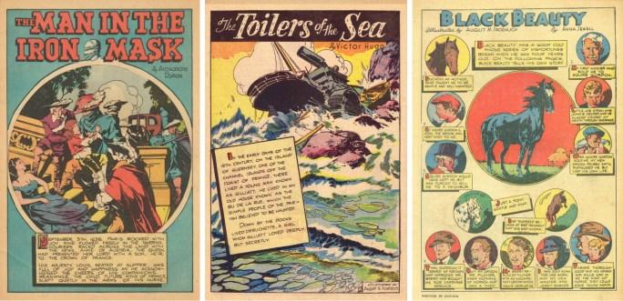 Inledande sidor till serierna i #54, #56 och #60.