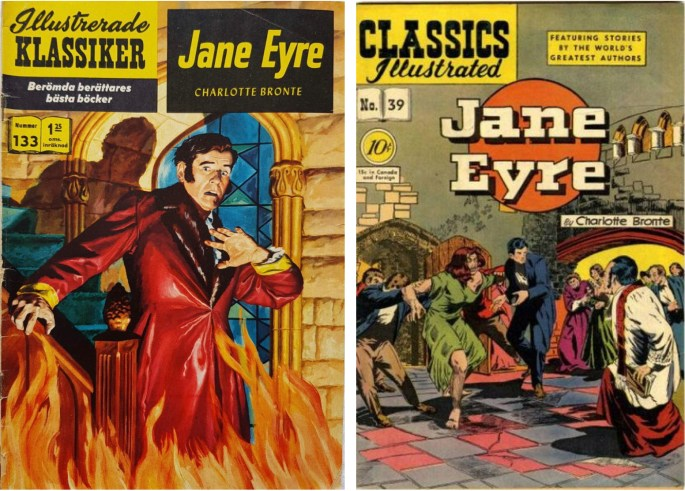 Omslag till Illustrerade klassiker nr 133, med serieversionen av H. J. Kihl (omslagstecknare okänd), och den tidiga versionen av Harley Griffiths.