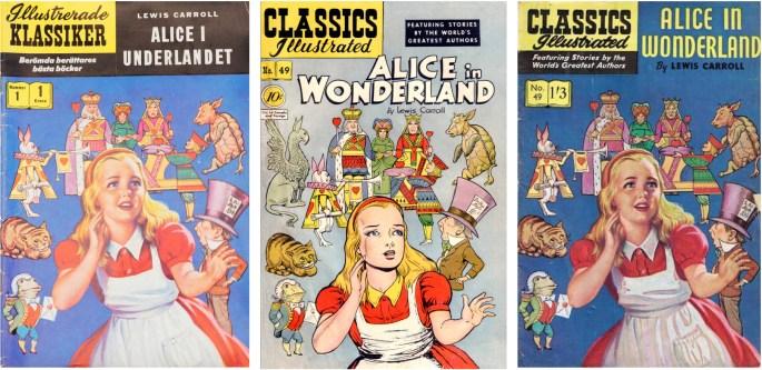 Omslaget är ur den brittiska editionen (t.h.) från 50-talet. ©IK/Gilberton/T&P