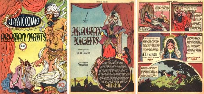 Chestney tecknade Arabian Nights till Classic Comics #8. ©Gilberton