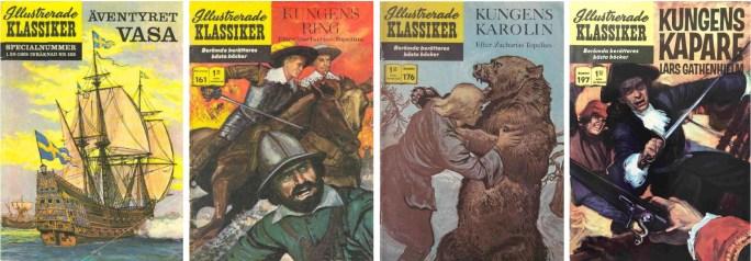 Serierna av Göte Göransson i Illustrerade klassiker är ur den svenska historien.