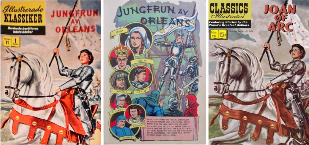 Omslaget och förstasida ur IK nr 11, och omslag till CI #78 (t.h.). ©IK/Gilberton