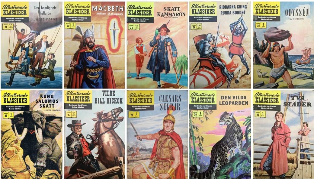 Omslag till Illustrerade klassiker nr 21-30 (1957). ©IK/Gilberton