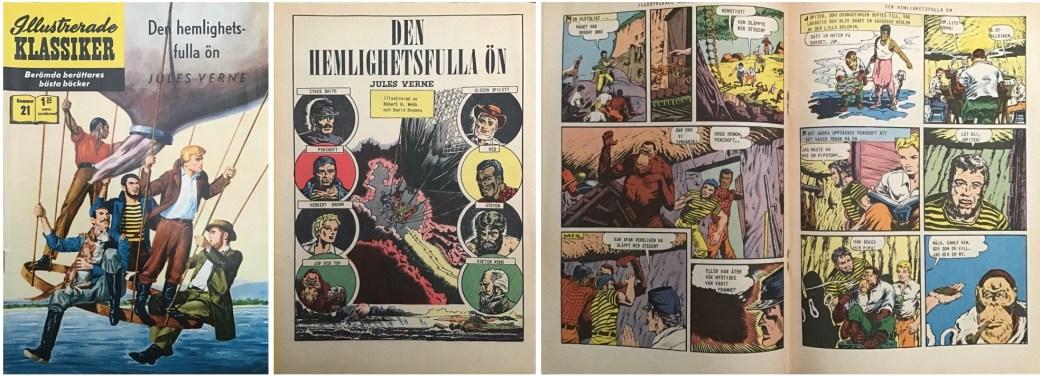 Omslag, förstasida och mittuppslag ur IK nr 21. ©IK/Gilberton